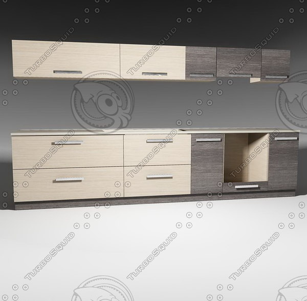 kitchen furnitures pack 1 model