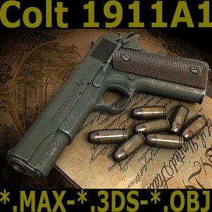1911a1 1911 colt 3d max