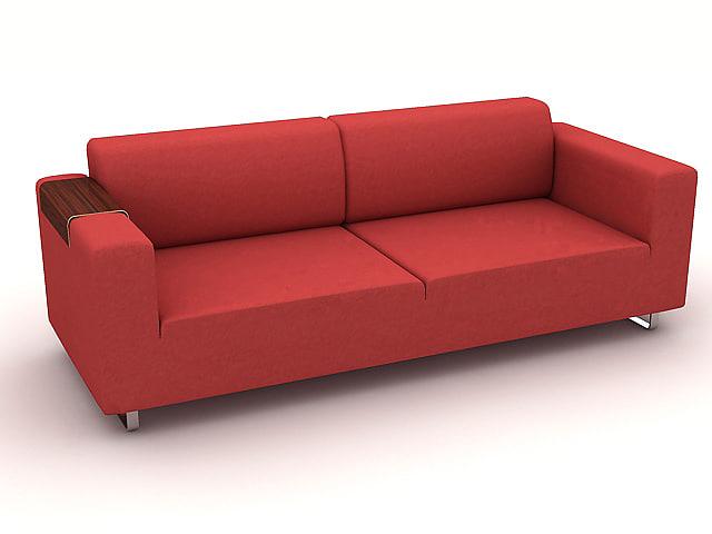 sofa s224c 3d dxf