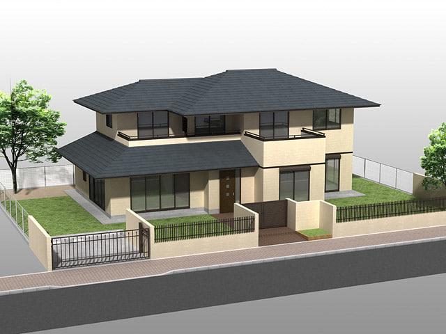 3d house01