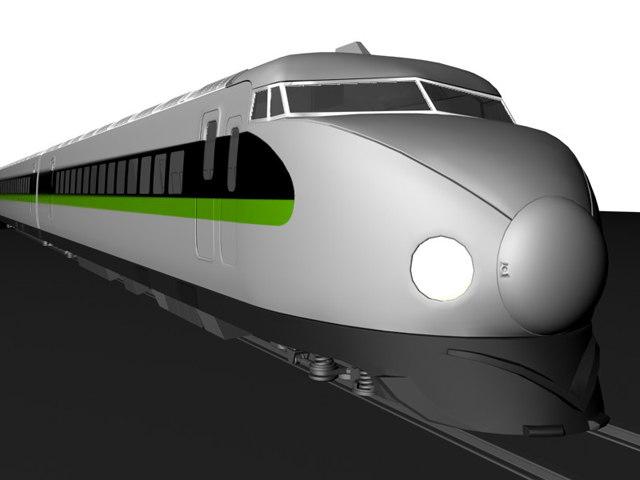 3d 700-nozomi shinkansen model