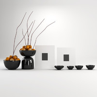Persimmon in Vases