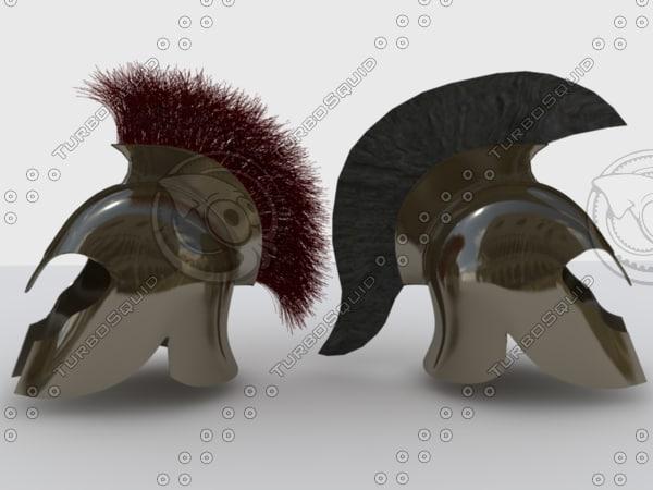 greek soldier helmet 3d max