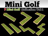 Mini Golf Course 7 Model Collection