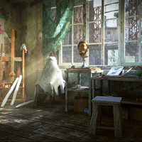 art workshop - scene 3d model