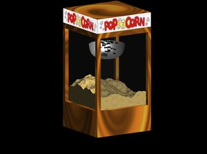 popcorn machine pops 3d model