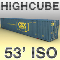 3d model highcube container ship
