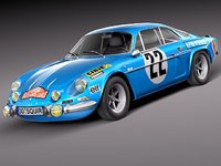 renault alpine rallye antique obj