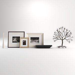 tree decor picture 3d obj