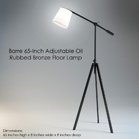 Barre 65-Inch Adjustable Oil Rubbed Bronze Floor Lamp