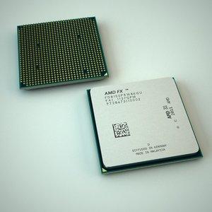 amd cpu 3d model