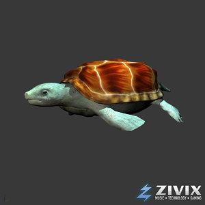 3d generic turtle swim