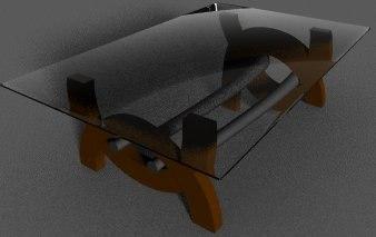 free obj mode modern coffee table glass