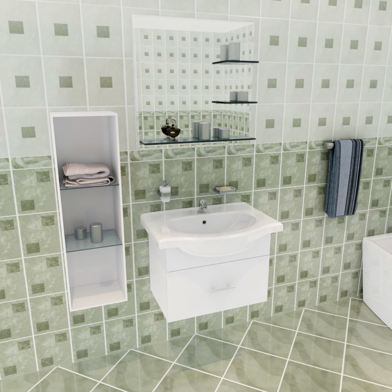 3d si bathroom set