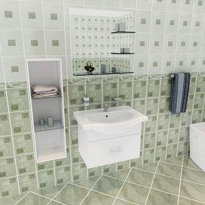 3d si bathroom set
