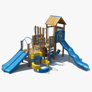 3d model big toys playground