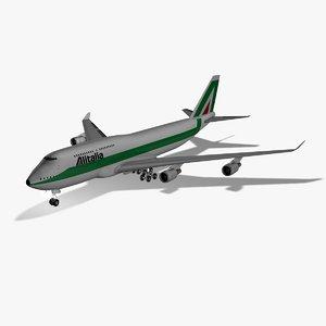 boeing 747 alitalia 3d c4d