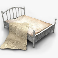 Old Metal Bed Textured