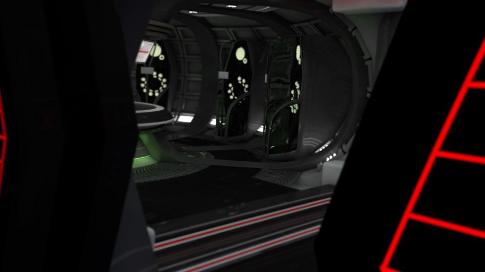 cryogenics chamber sci fi 3d model