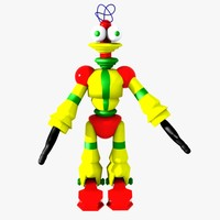 3ds max robot character bot
