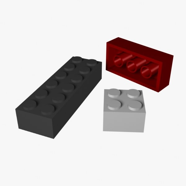 3d construction blocks model