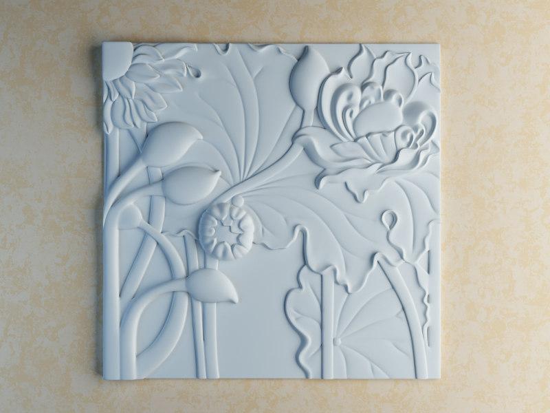 3dsmax flower carved