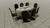 diningtable table dining 3d obj