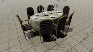 diningtable table dining 3d obj