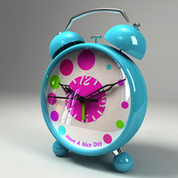 3d model of alarm clock