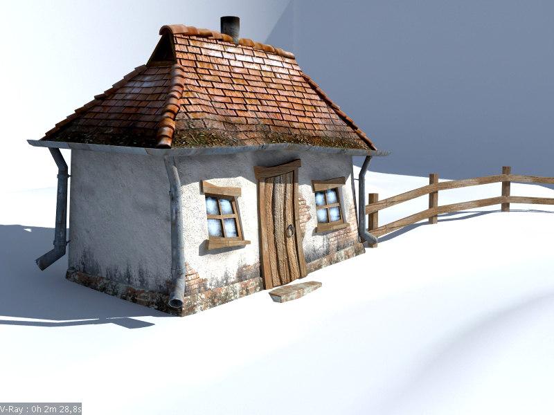 village house 3d max
