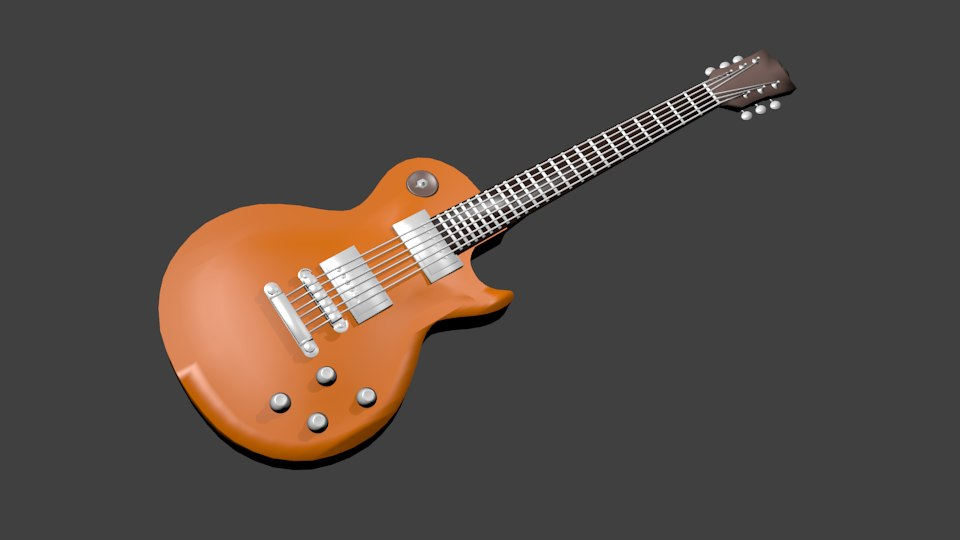 electric les guitar 3d model
