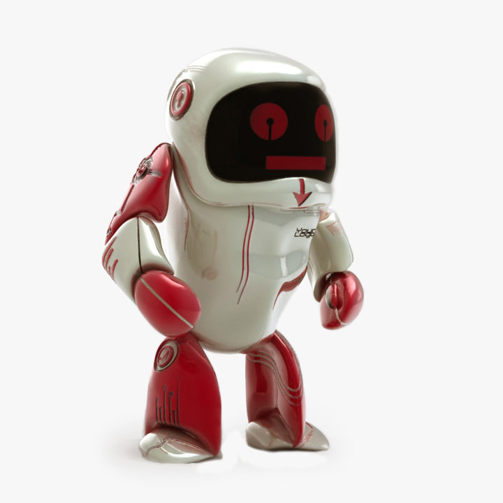 3dsmax robot modeled
