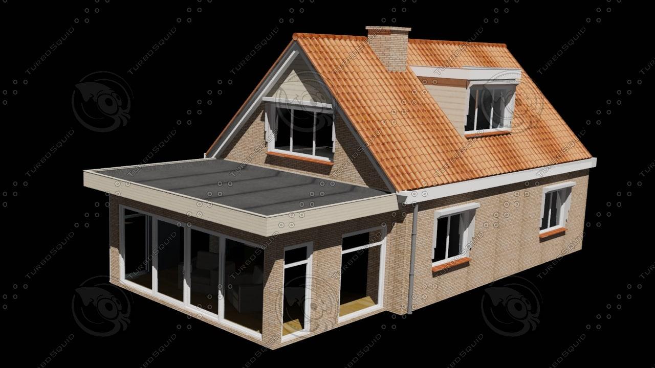 dutch house 3d max