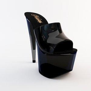 heel shoe 1 3d model