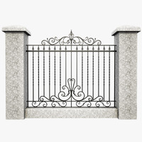 Wrought Iron Fence 6