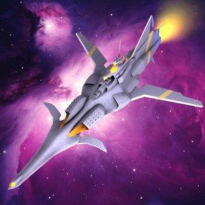 3d model captain spaceship ship