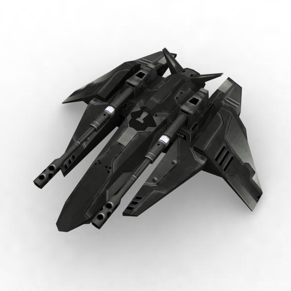 assault fighter 3d model