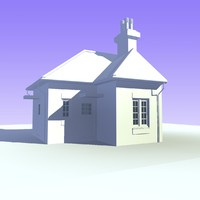 3d 1 bungalow house unit model