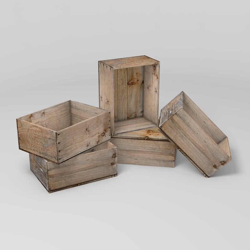 wine box 3d obj