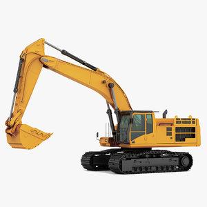 hydraulic excavator 3d max