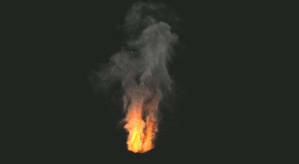 free fumefx campfire 3d model