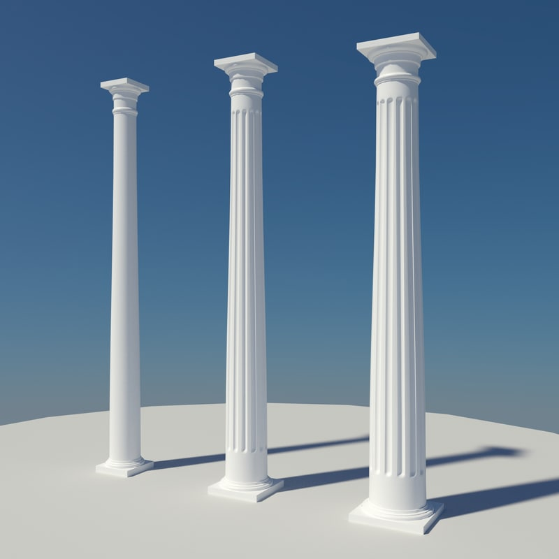 Colonial doric column 3ds for Doric columns