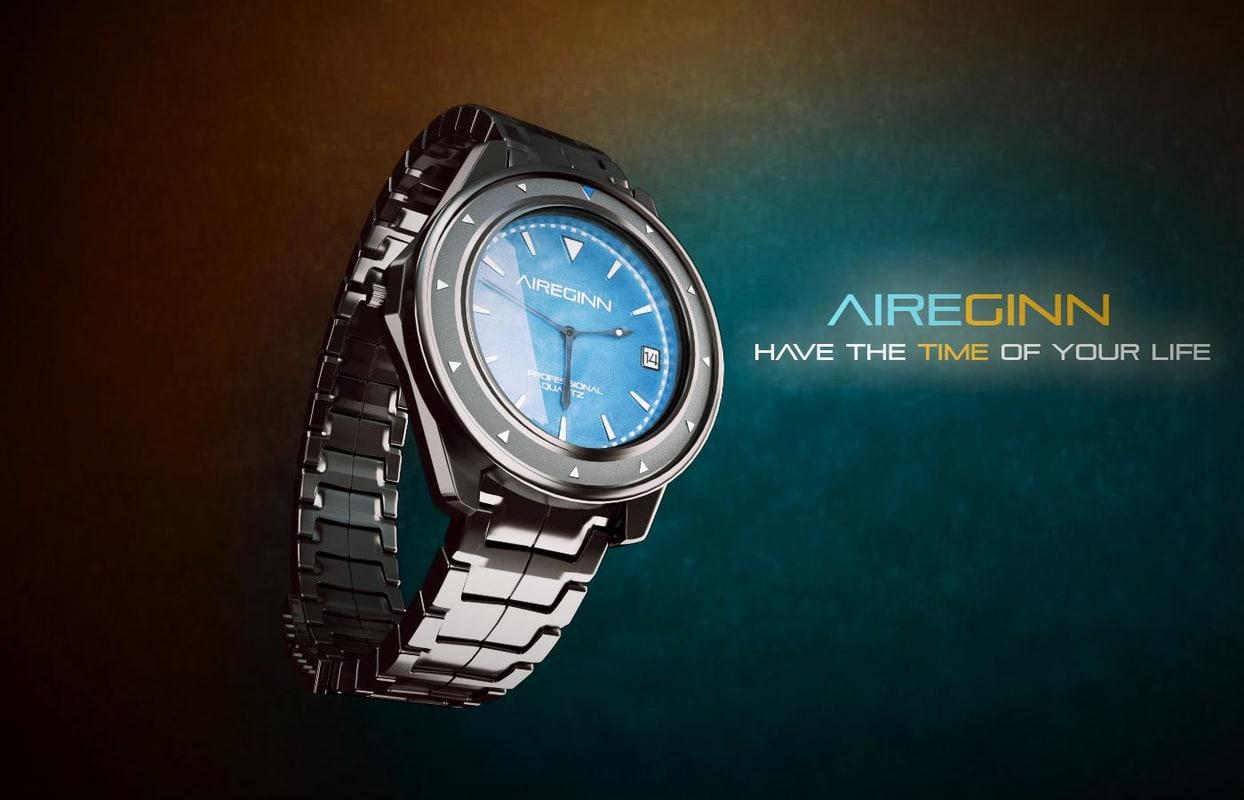 3d model of wrist watch