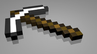 Iron Minecraft Pickaxe