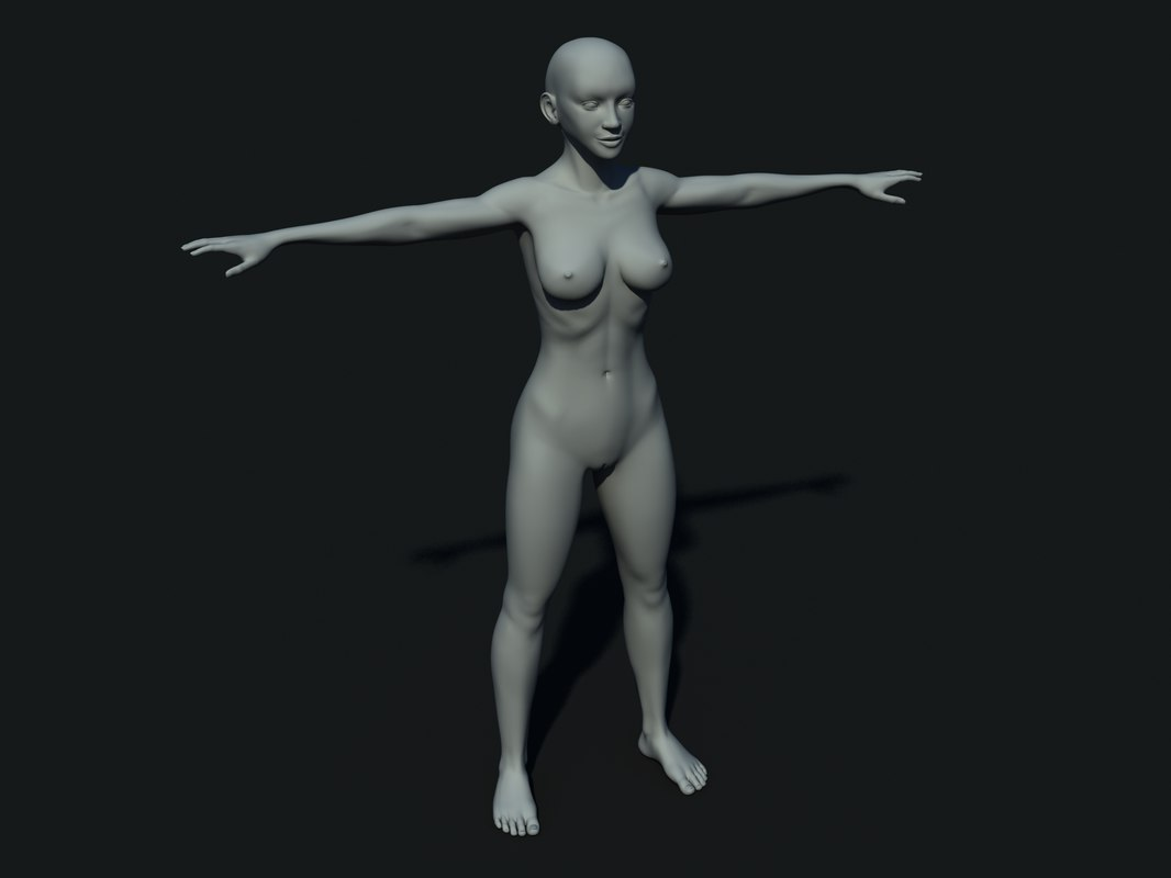 body female 3d 3ds