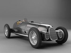 max old black racing car