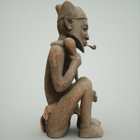 3d statue man dogon model