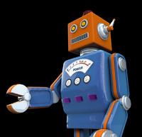 1950s robot c4d
