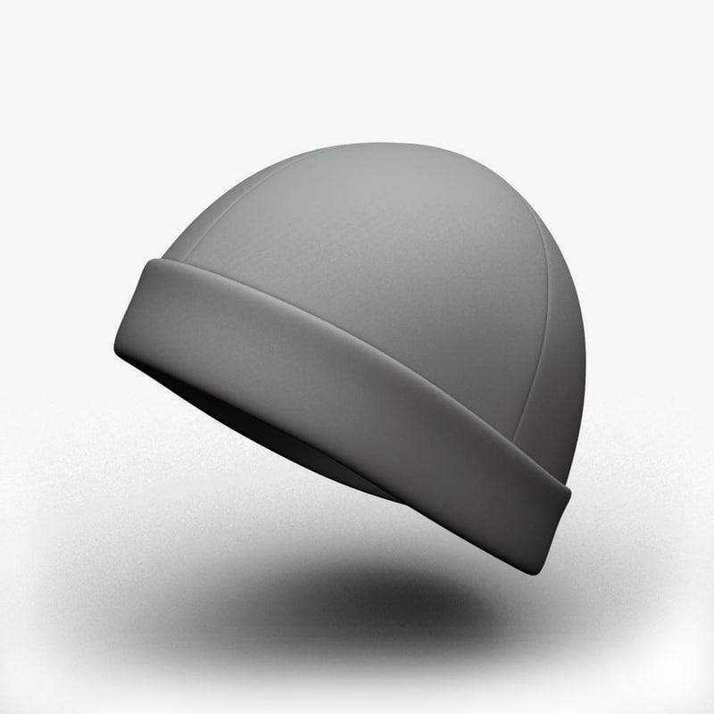 3d skull cap