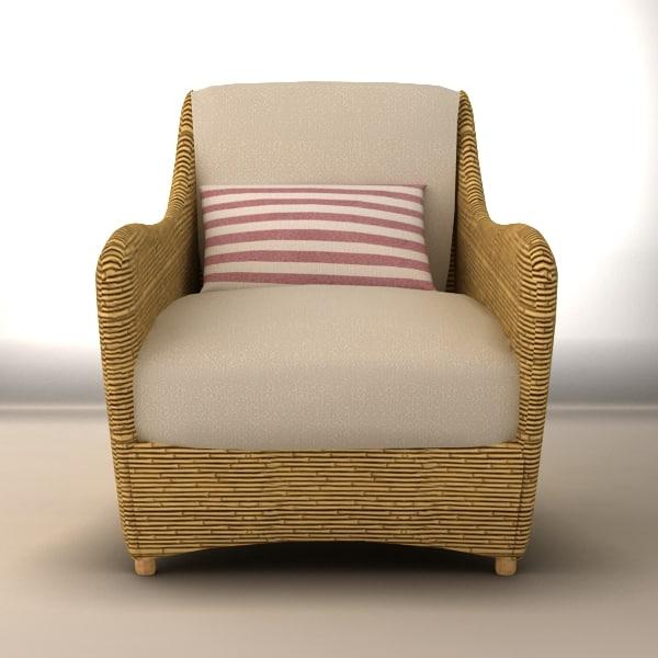 3d outdoor sofa chair
